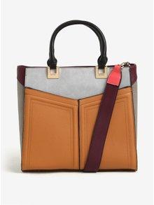 Šedo-hnědá kabelka s odnímatelným popruhem Bessie London