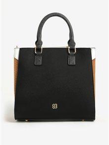 Hnedo-čierna kabelka s odnímateľným popruhom Bessie London