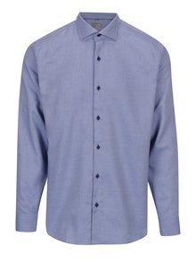 Modrá pánska vzorovaná slim fit košeľa Seven Seas