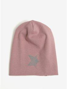 Staroružová dievčenská čiapka s reflexným prvkom Name It Moppy