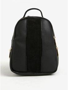 Černý malý batoh s detaily ve zlaté barvě Bessie London