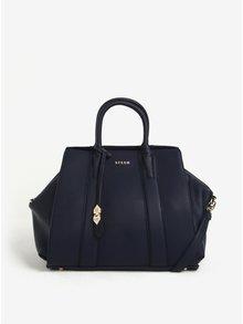 Tmavě modrá velká kabelka s jemným vzorem Bessie London