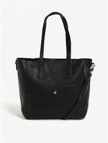 Geanta shopper neagra cu aspect 2in1 cu perforatii Bessie London