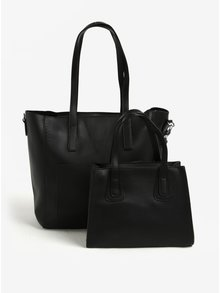 Čierna veľká a malá kabelka 2 v 1 Bessie London