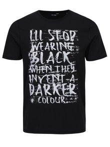 Čierne tričko s nápisom ONLY & SONS Busker