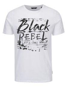 Tricou alb cu mesaj - ONLY & SONS Busker