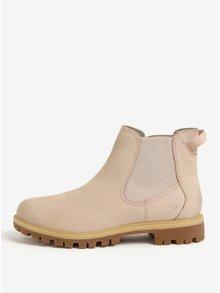 Svetloružové kožené chelsea topánky Tamaris