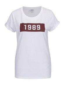 Tricou alb din bumbac organic cu print pentru femei - ZOOT Original 1989