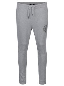 Pantaloni sport gri melanj cu buzunare si print - ONLY & SONS Frana