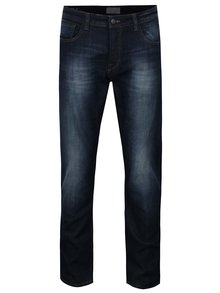 Tmavomodré slim fit rifle s vyšúchaným efektom ONLY & SONS Weft