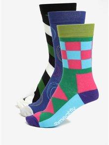 Súprava troch párov vzorovaných ponožiek MEATFLY