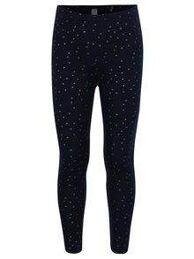Tmavě modré holčičí legíny s potiskem hvězd 5.10.15.