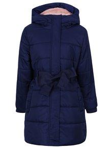 Tmavě modrý holčičí voděodolný zimní kabát s kapucí 5.10.15.