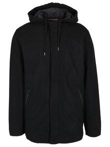 Čierny krátky kabát s prímesou vlny Casual Friday by Blend