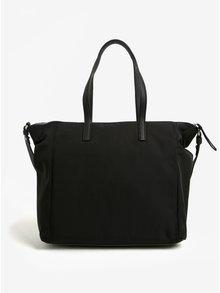 Černá kabelka s logem ve stříbrné barvě Calvin Klein Jeans