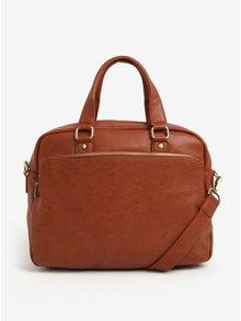 Hnedá pánska taška cez rameno s vreckom Bobby Black