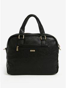 Čierna hnedá pánska taška cez rameno s vreckom Bobby Black