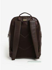 Tmavě hnědý batoh s kapsou Bobby Black
