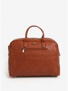 Hnedá cestovná taška s predným vreckom Bobby Black