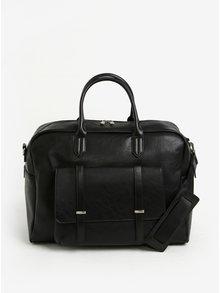 Čierna cestovná taška s predným vreckom Bobby Black