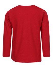 Červené holčičí tričko s flitry ve tvaru mašle 5.10.15.