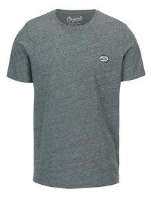 Svetlozelené melírované tričko s nášivkou Jack & Jones Blah TEE