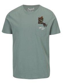 Svetlozelené tričko s vreckom Jack & Jones Cheeky TEE