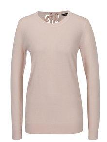 Ružový sveter so zaväzovaním na chrbte Dorothy Perkins