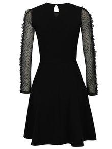 Černé šaty s dlouhým rukávem a volány Dorothy Perkins