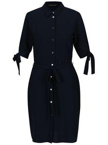 Tmavě modré košilové šaty s páskem Dorothy Perkins