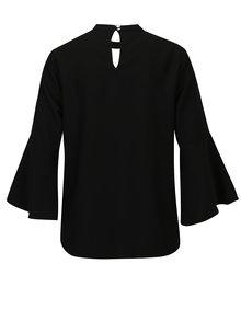 Bluza neagra cu decupaje si maneci clopot Dorothy Perkins