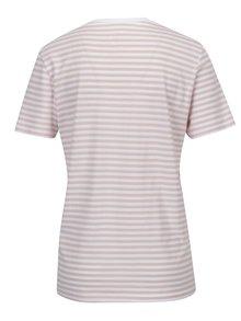 Bílo-růžové pruhované tričko Selected Femme MyPerfect