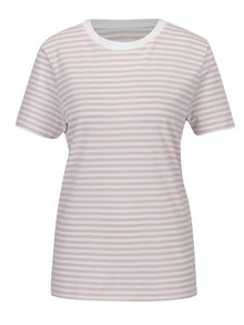 Tricou roz&alb in dungi Selected Femme MyPerfect
