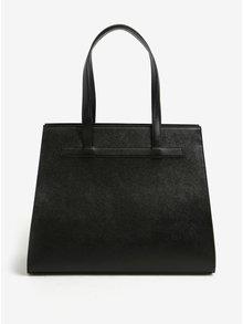 Černá kožená kabelka ELEGA Isabel
