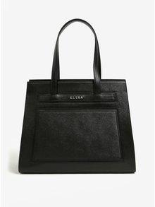 Černá kožená kabelka ELEGA Isabela