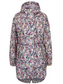 Krémový dámsky kvetovaný pršiplášť Tom Joule