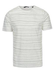 Krémové pruhované tričko ONLY & SONS Barat