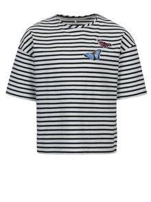 Bielo–modré pruhované dievčenské tričko name it Asja