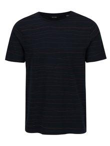 Tmavomodré pruhované tričko ONLY & SONS Barat