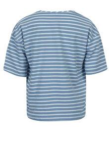 Bielo–modré pruhované dievčenské tričko s krátkym rukávom name it Asja