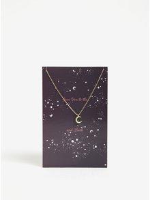 Řetízek s přívěškem měsíce ve zlaté barvě Pieces Anchor