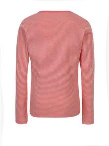 Ružovo-červené pruhované dievčenské tričko s dlhým rukávom name it Verit