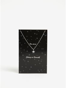 Řetízek s přívěškem hvězdy ve stříbrné barvě Pieces Anchor