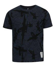 Tmavomodré chlapčenské tričko s motívom lietadiel name it Kasper