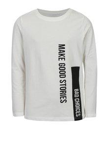 Krémové chlapčenské tričko s potlačou LIMITED by name it Victorsan