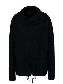 Čierny melírovaný sveter s prímesou vlny VERO MODA Helen