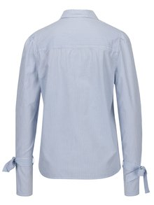 Modro-biela pruhovaná košeľa so zaväzovaním na rukávoch VERO MODA Juljane