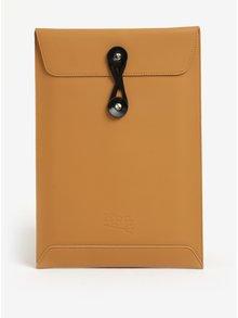 """Čierno-hnedý kožený obal na notebook Lípa 13"""""""