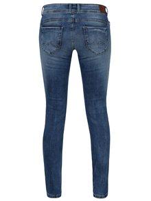 Modré dámske slim rifle s nízkym pásom Pepe Jeans New Brooke