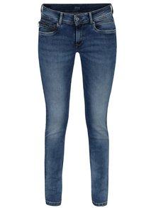 Modré dámské slim džíny s nízkým pasem Pepe Jeans New Brooke